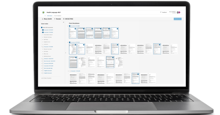 Chart Review Accelerator's intuitive user interface makes medical necessity review faster and easier