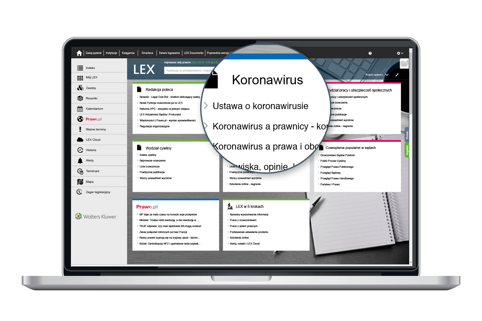 Informacje o koronawirusie w LEX Sądy