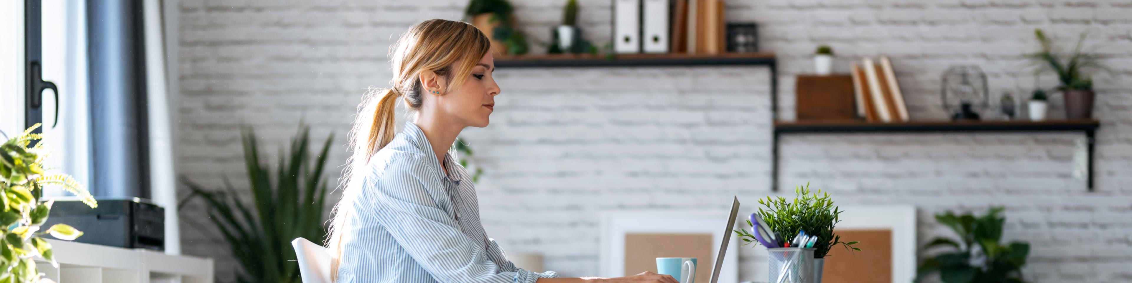 woman researching employee turnover issues