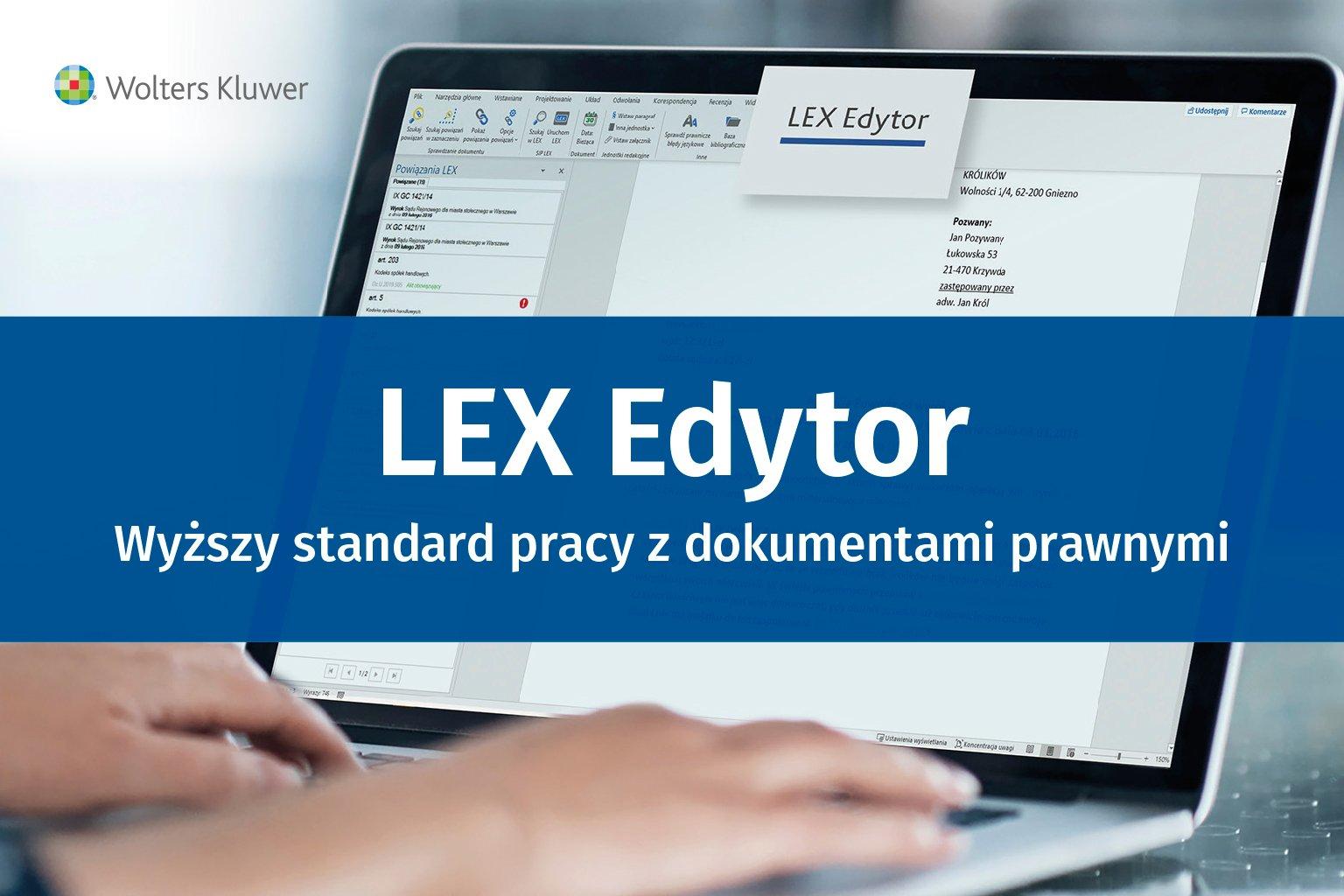 Film promocyjny dotyczący korzyści LEX Edytora