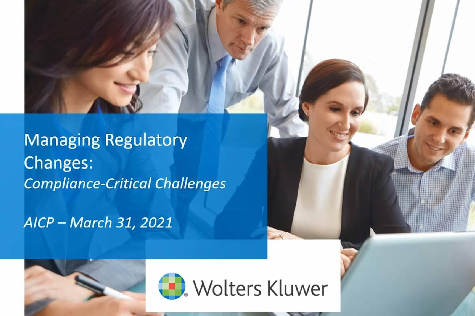 Managing Regulatory Change