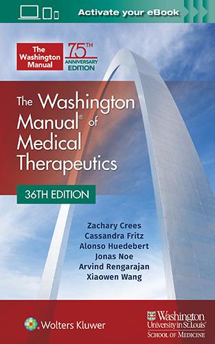 The Washington Manual of Medical Therapeutics book cover