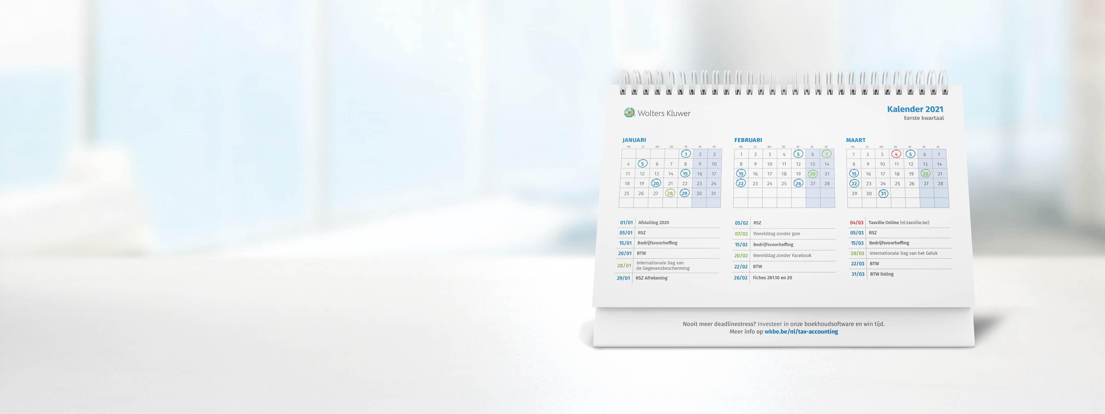 fiscale jaarkalender