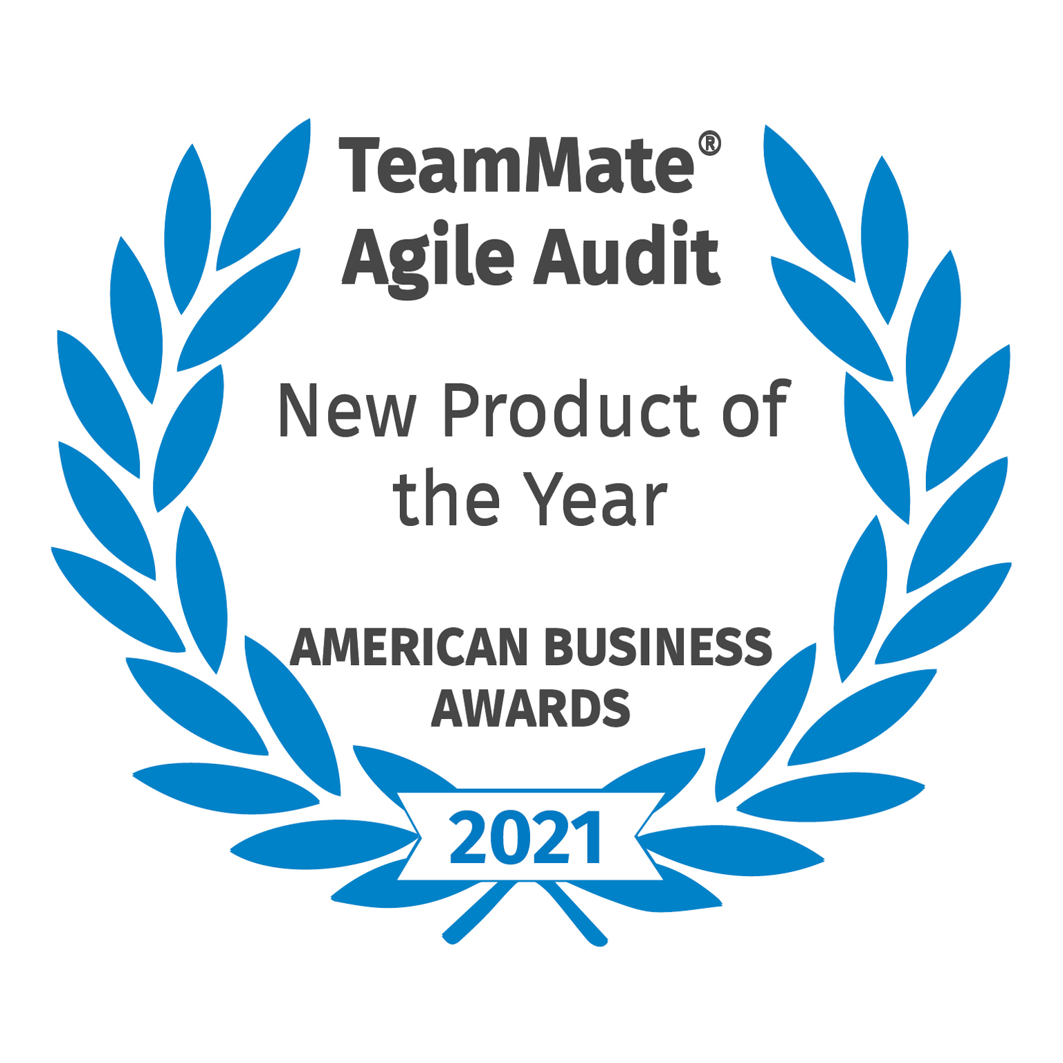 TeamMate Agile Audit - New Product of the Year - American Business Awards - 2021