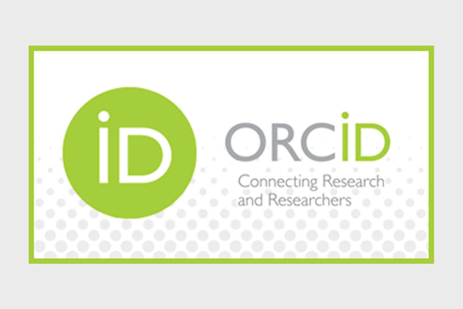 Orcid ID, connecting research and researchers logo ad