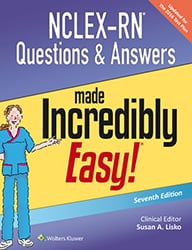 NCLEX-RN Questions and Answers Made Incredibly Easy book cover