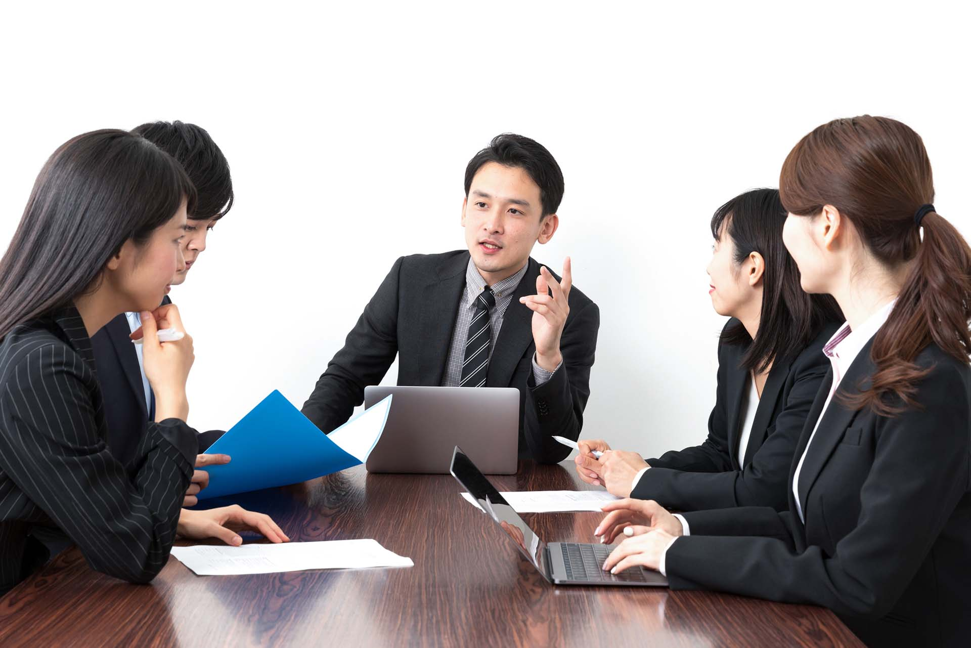 Japanese Professionals with Laptop