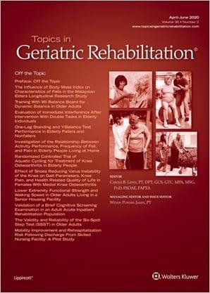 Topics in Geriatric Rehabilitation