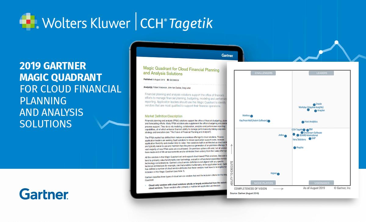 CCH Tagetik ottiene il punteggio più alto nel Gartner MQ per le funzionalità di prodotto delle soluzioni di pianificazioni e analisi finanziaria (FP&A) in Cloud