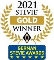 Stevie Award 2021 gold