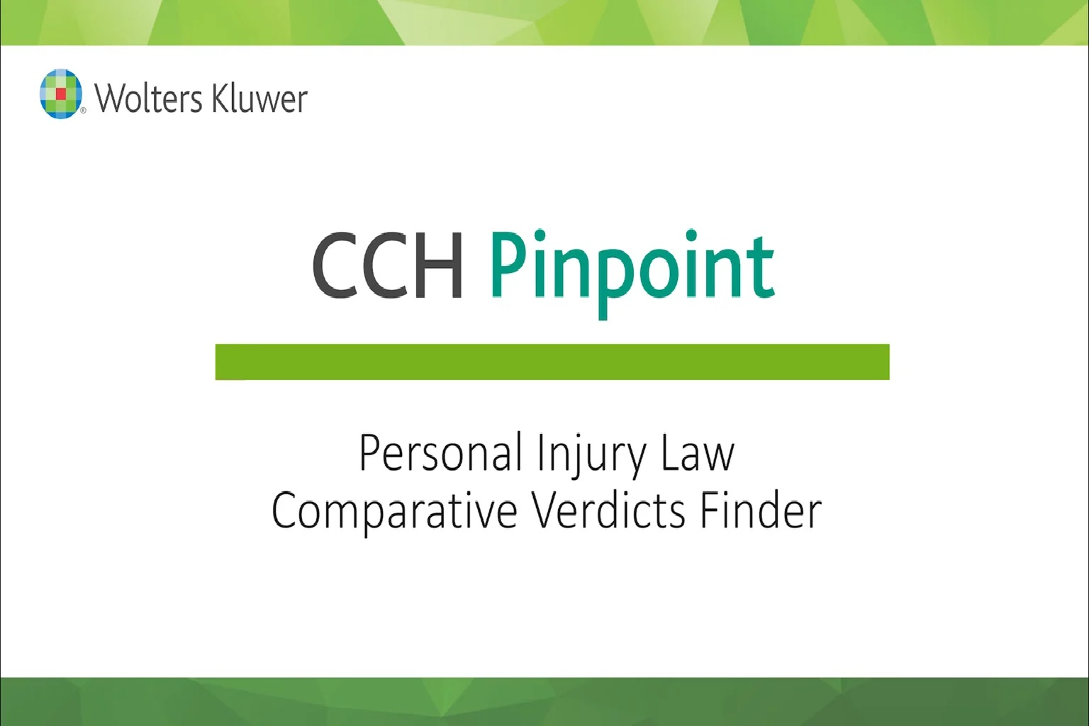 Personal Injury Law Comparative Verdicts Finder
