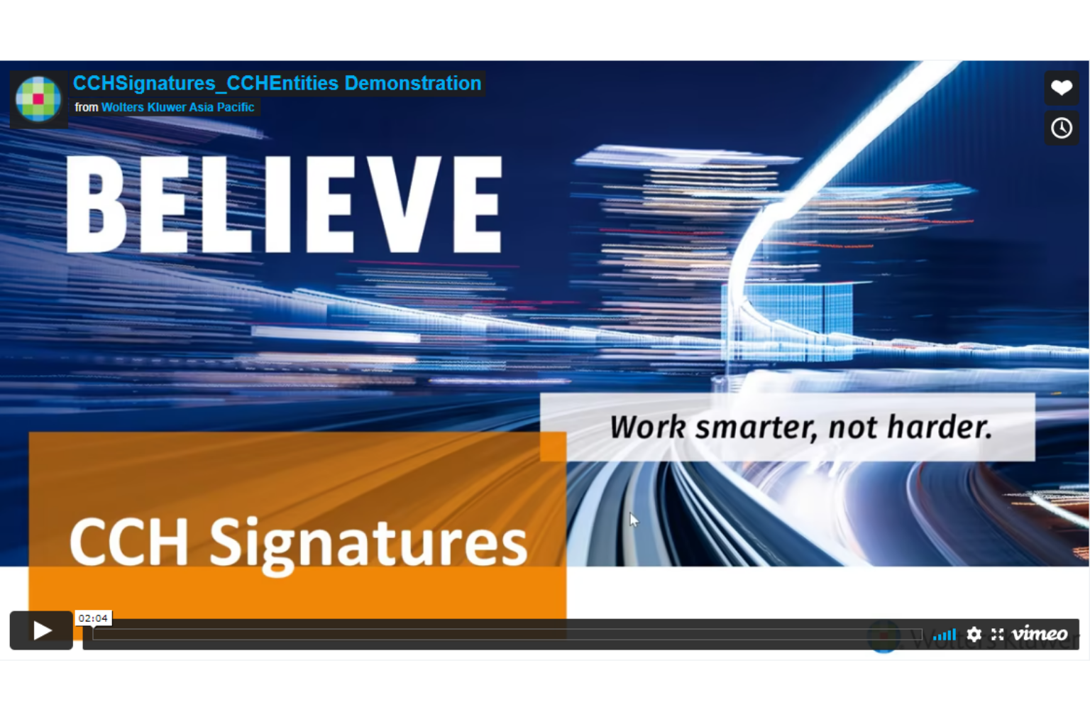 CCH Entities - Signatures Demo Video