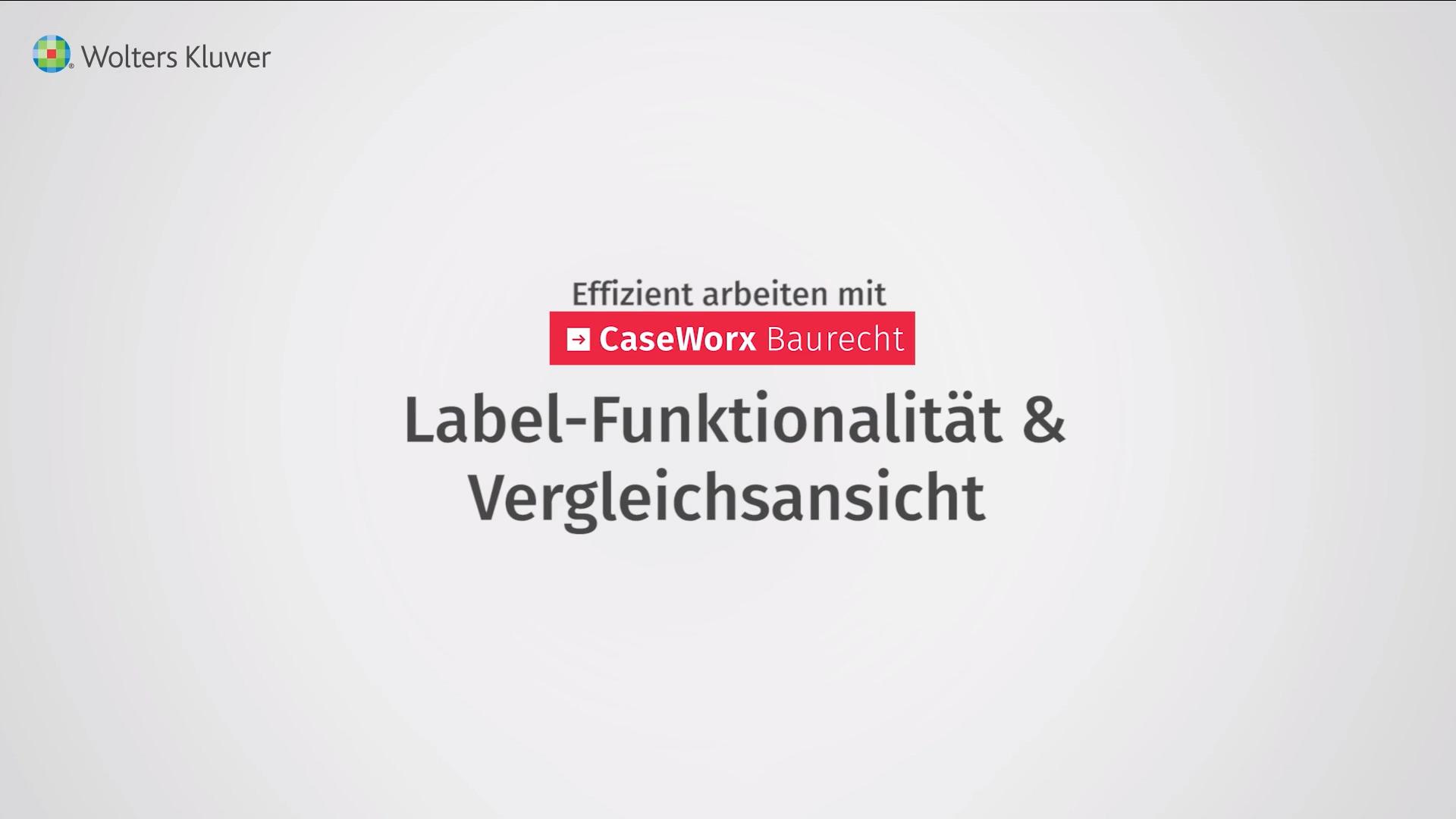 Label-Funktionalität