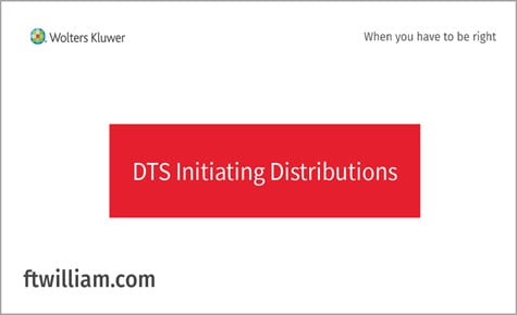 DTS Initiating Distributions