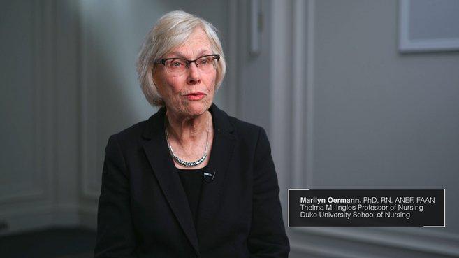 Screenshot from Marilyn Oermann's clinical judgement video