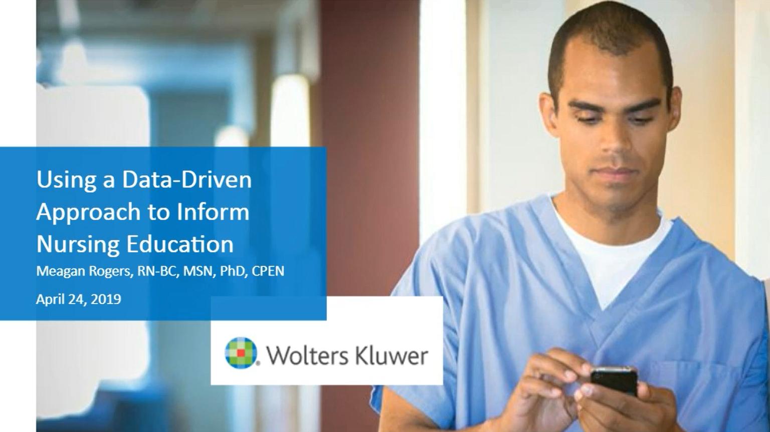 Screenshot of Using a data-driven approach to inform nursing education video