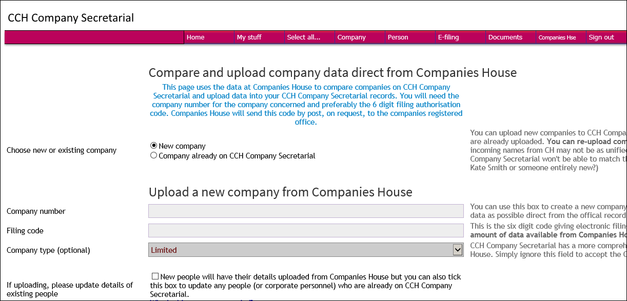 Automatically add new accounts to Companies House