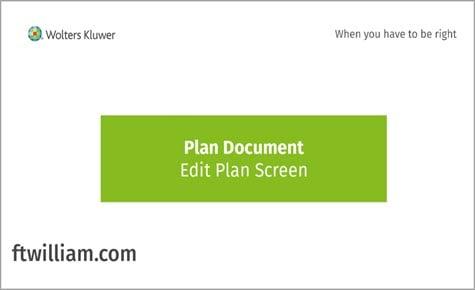 Plan Document - Edit Plan Screen