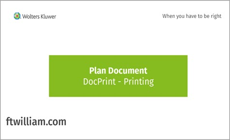 Plan Document - DocPrint Printing
