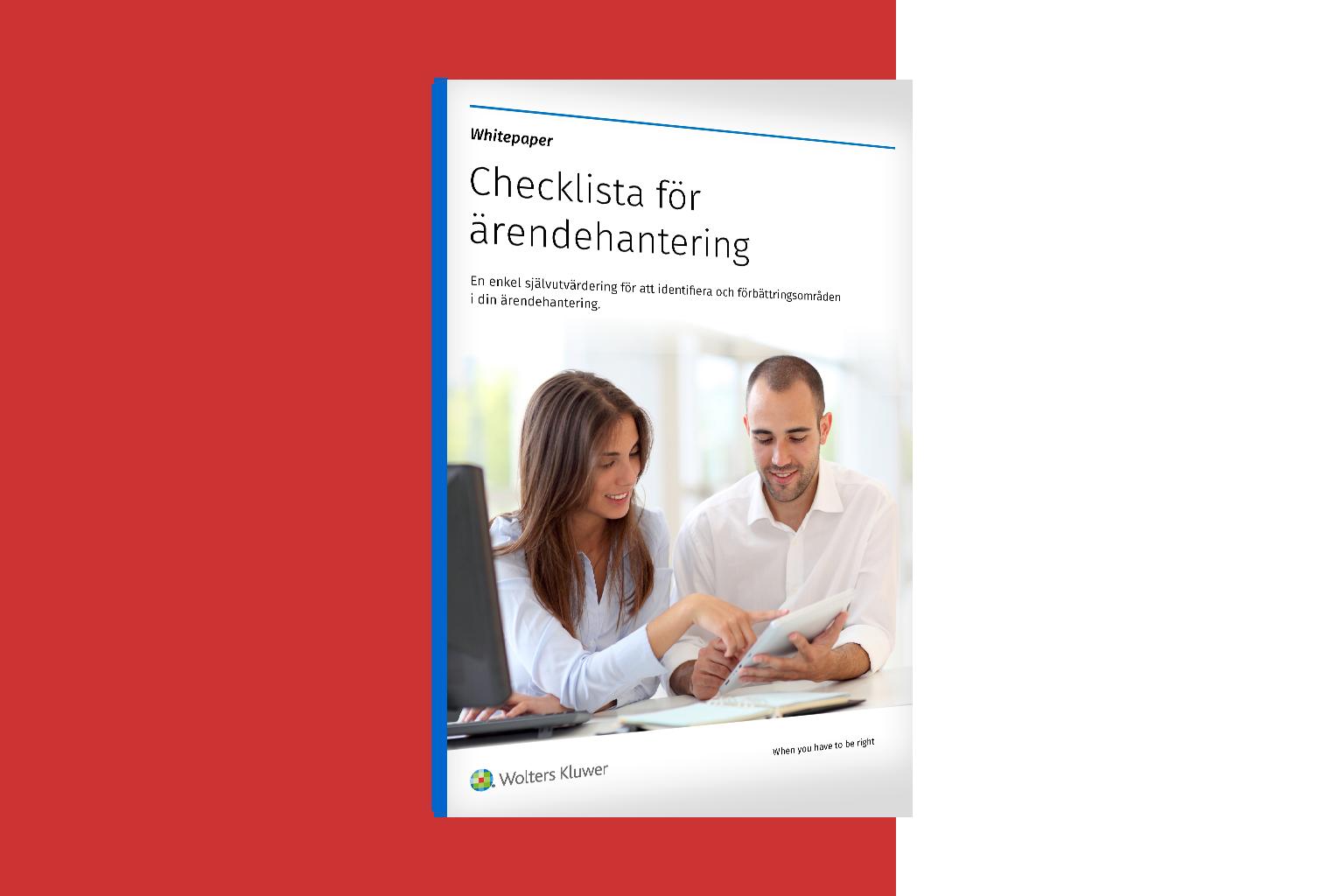 Checklista för ärendehantering
