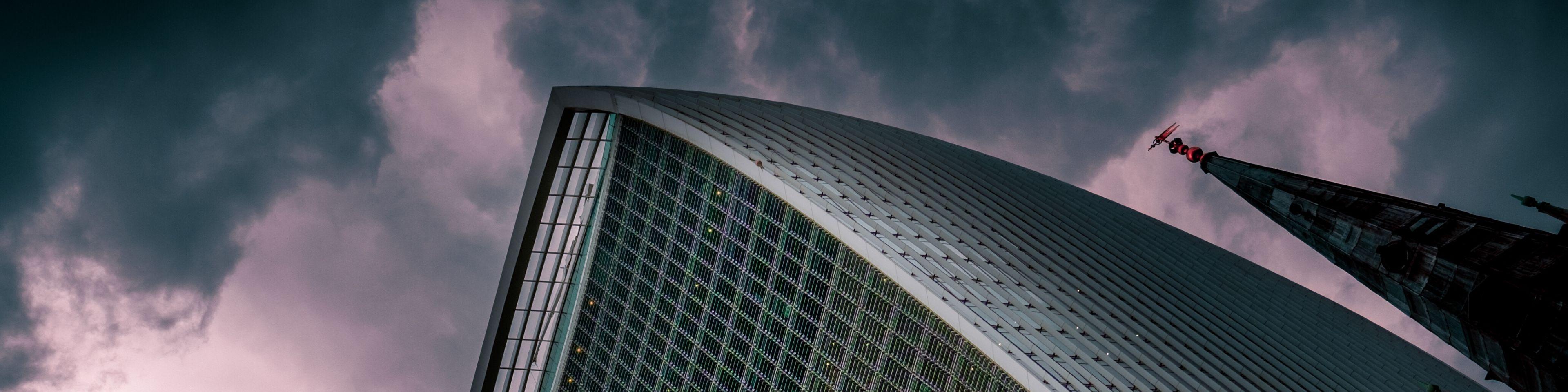 city building dark sky