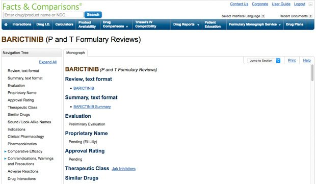 Formulary Monograph Service