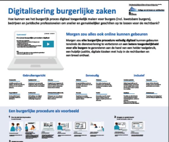 Digitalisering burgerlijke zaken