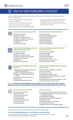 end of year compliance checklist