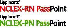 Lippincott NCLEX-RN PassPoint and NCLEX-PN PassPoint logos