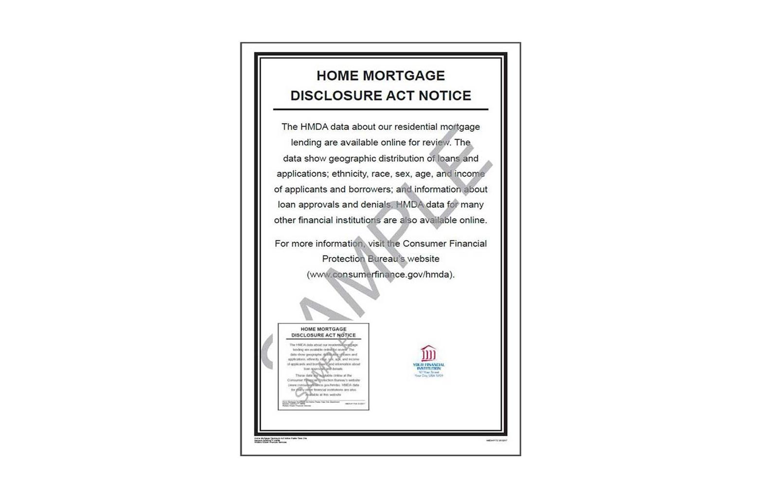 HMDA Notice Poster