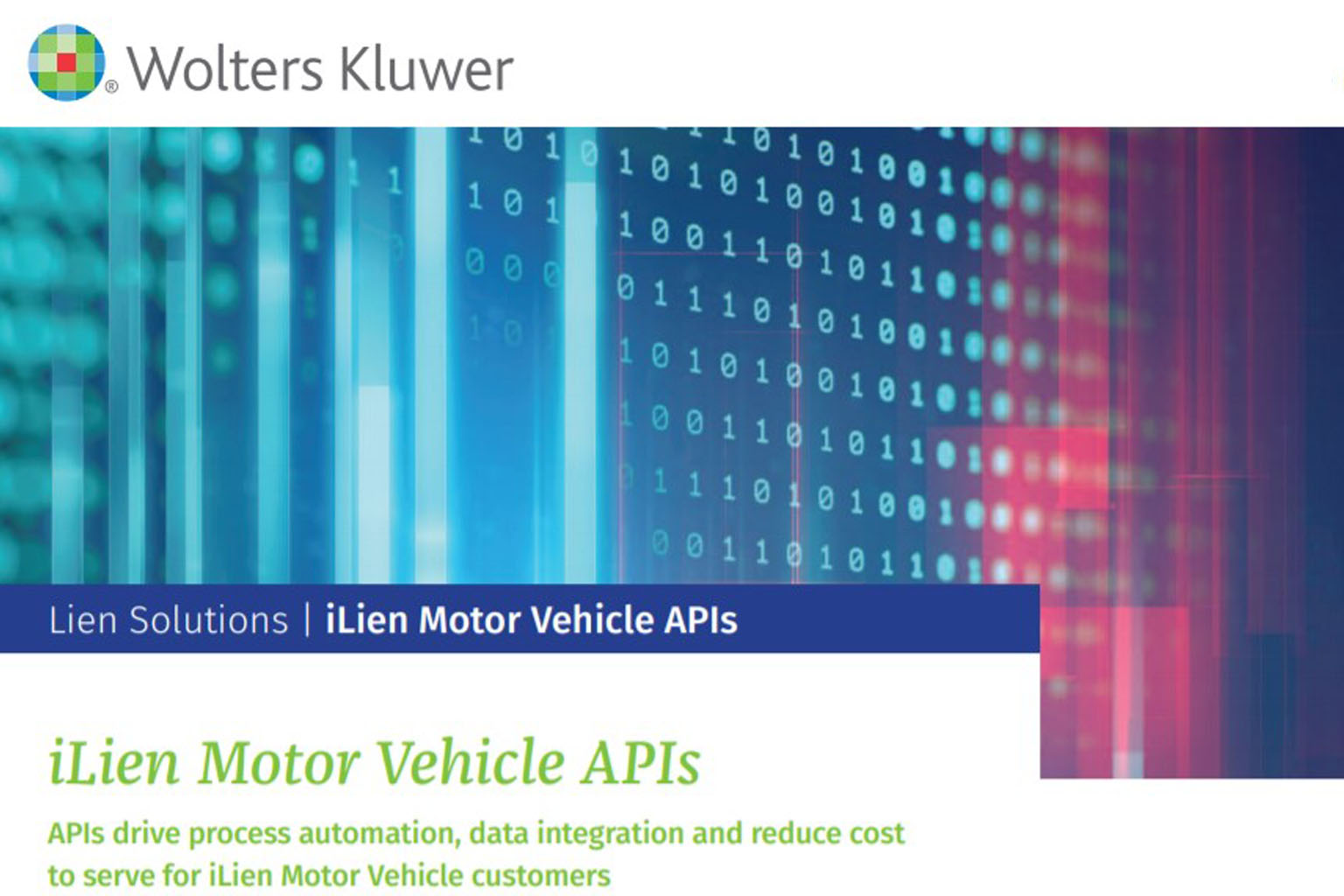 iLien Motor Vehicle APIs