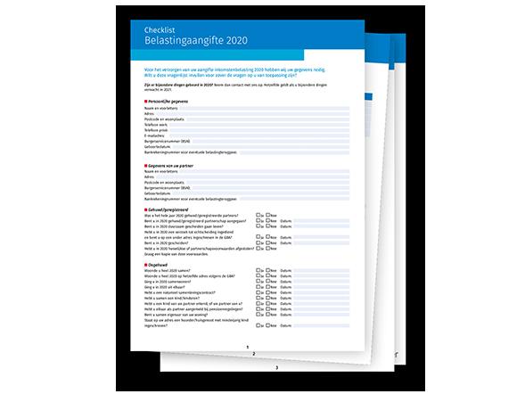 Checklist Belastingaangifte 2020