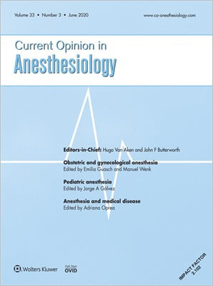 Current Opinion in Anesthesiology