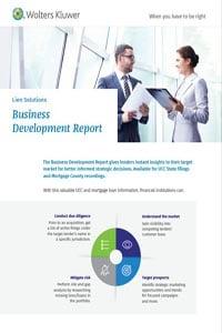 Lien Solutions Business Development Report Cover