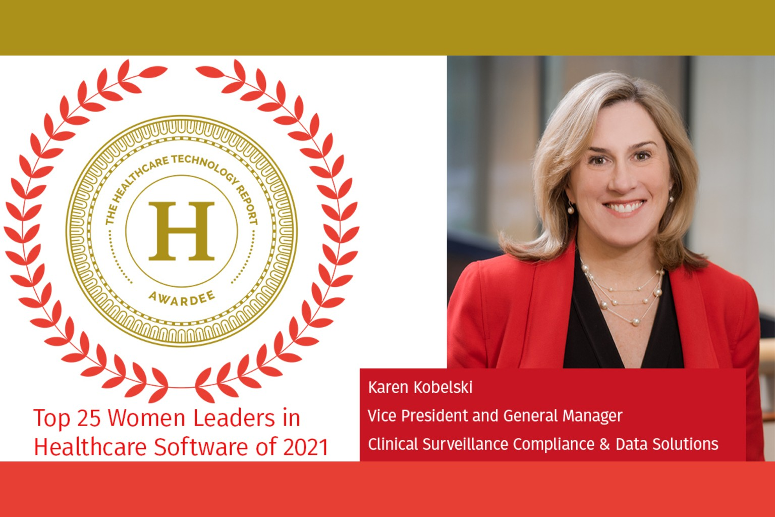 Healthcare Technology Report names Wolters Kluwer's Karen Kobelski  to Top 25 Women Leaders in Healthcare Software