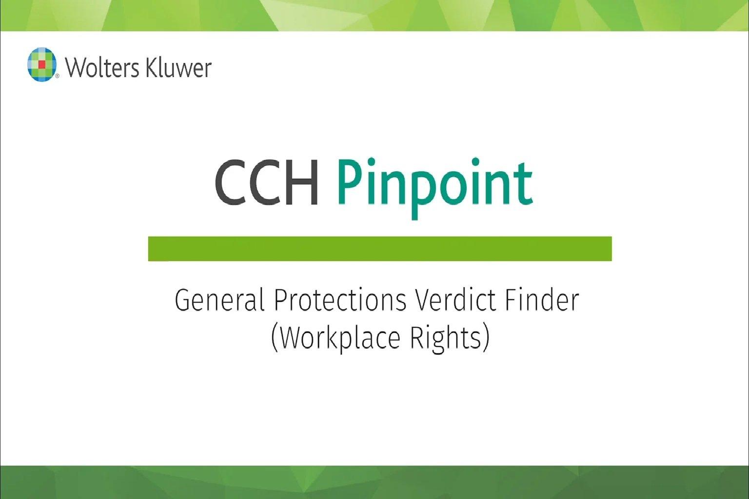 General Protections Verdict Finder