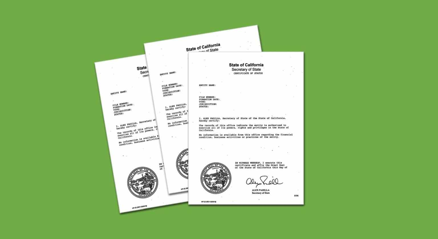 Secure this document to prove your business exists and remains in compliance with state requirements.