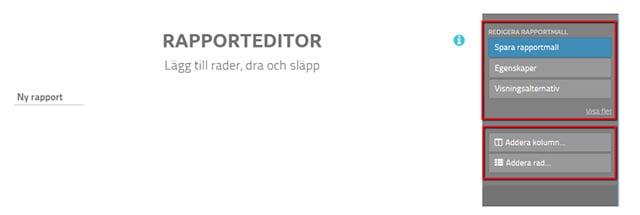 screenshot finsit rapporteditor