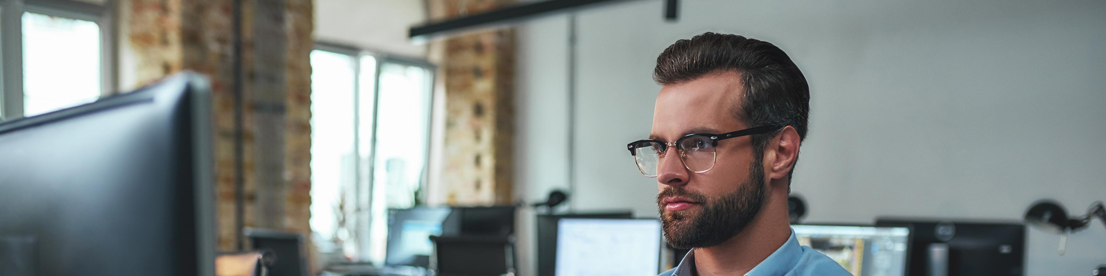 man reviewing whether to incorporate in delaware or nevada at his desk