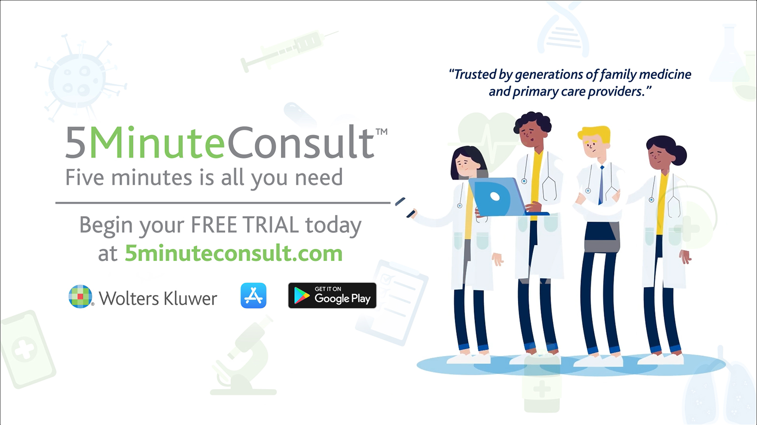 Screenshot of 5MinuteConsult learn more video