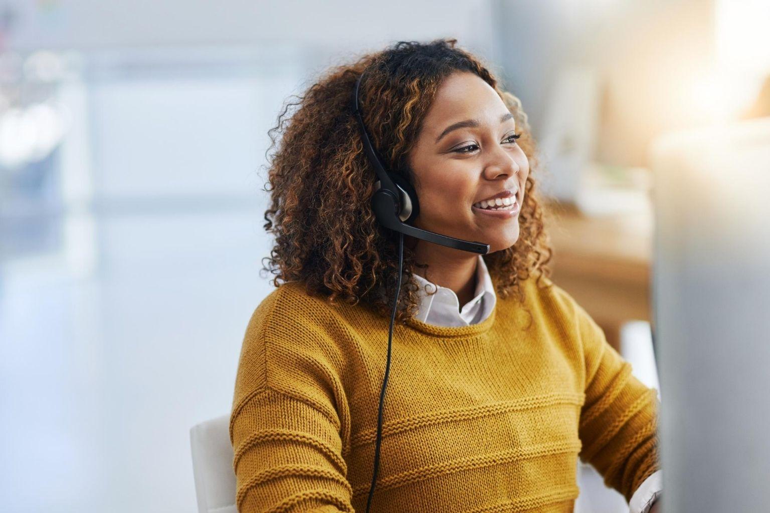 customer service smile