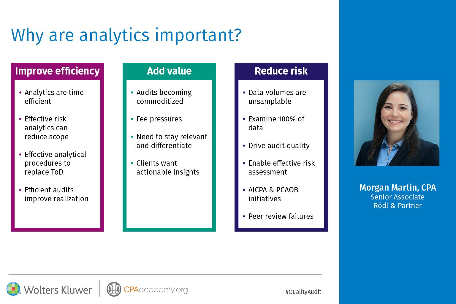 Morgan Martin Presentation - Audit Analytics