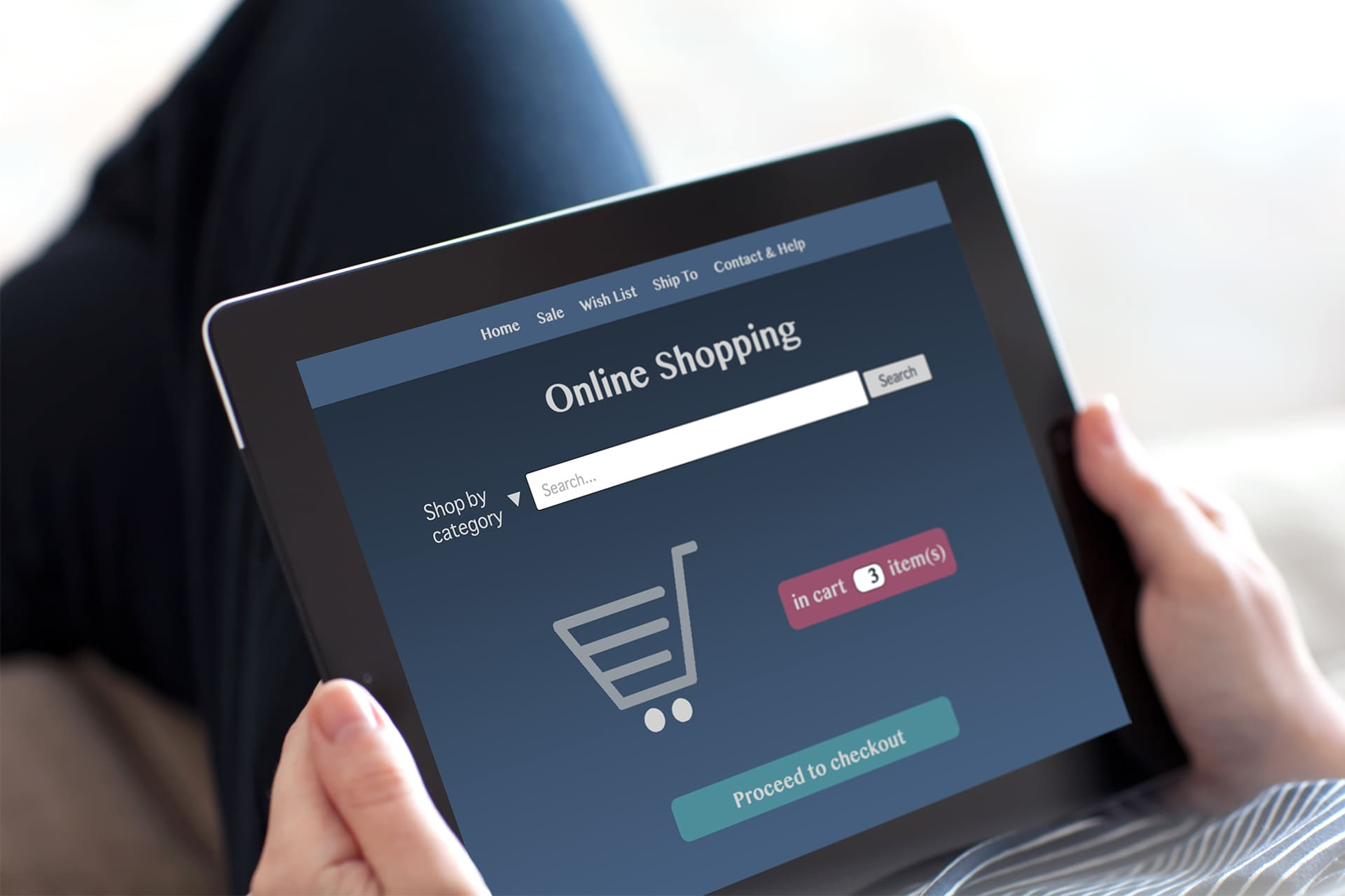 Online shoppen bij webwinkel