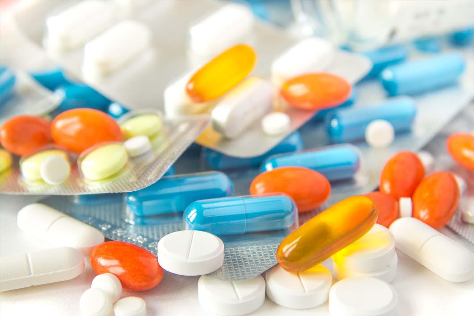 random assortment of pills