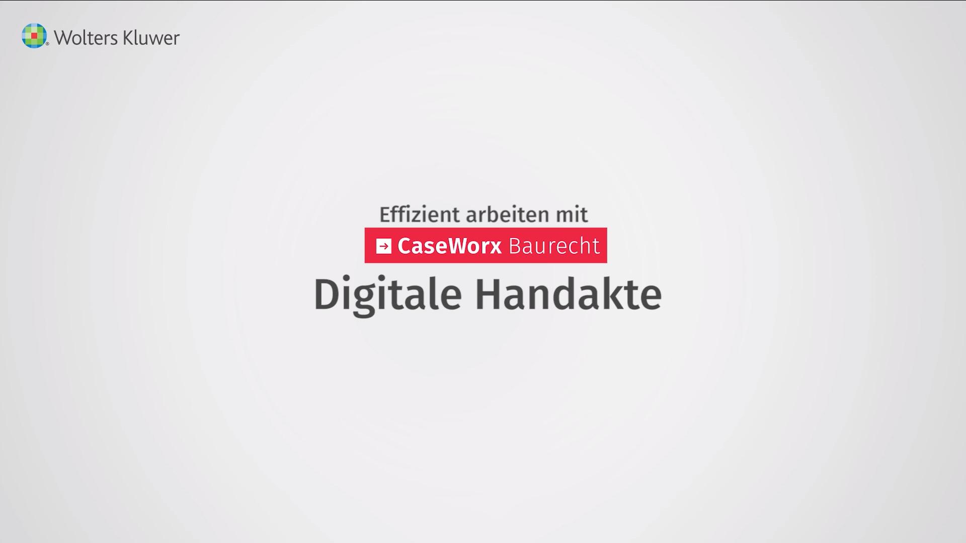 Digitale Handakte
