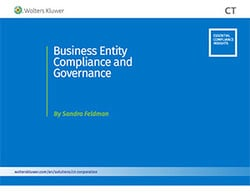 Business entity compliance and governance
