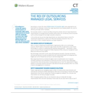 The ROI of outsourcing managed legal services