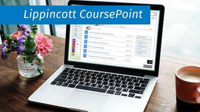 Screenshot from Lippincott CoursePoint video