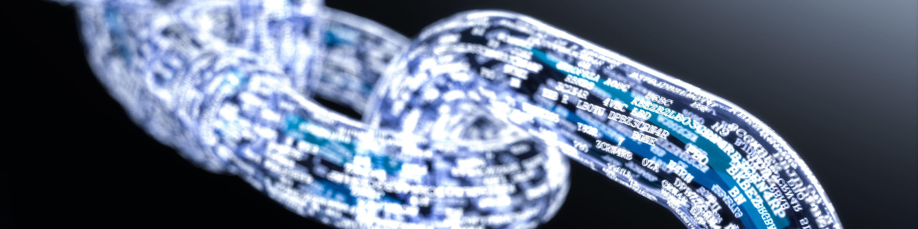 Digitale dataketting visualisatie van blockchain