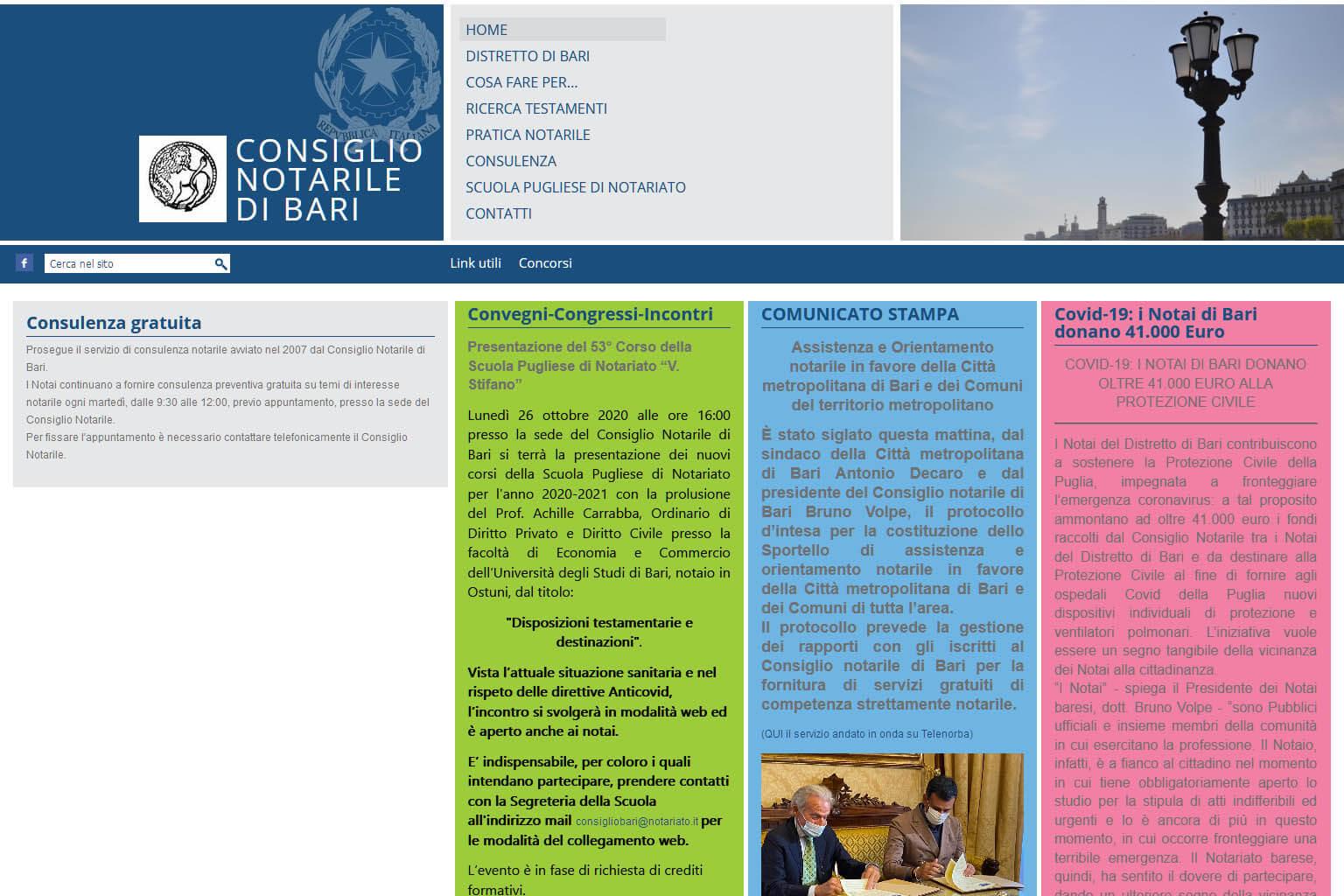 NotaioMyWeb | Consiglio Notarile Bari